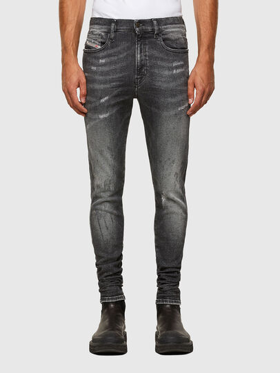 Diesel - D-Istort 009EX, Black/Dark grey - Jeans - Image 1