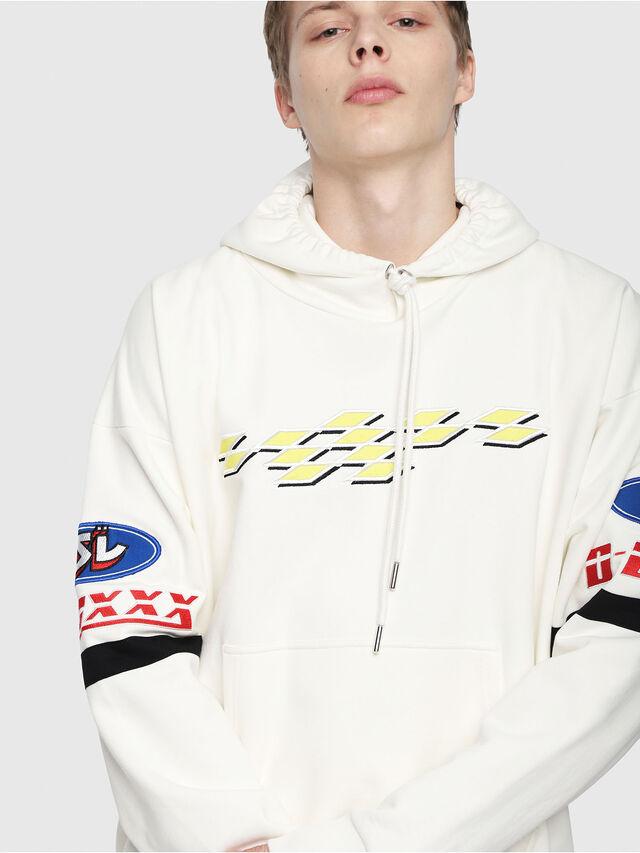 Diesel - S-ALBY-HOOD-YA, White - Sweaters - Image 3