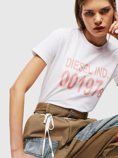 Diesel - T-SILY-001978, White - T-Shirts - Image 4