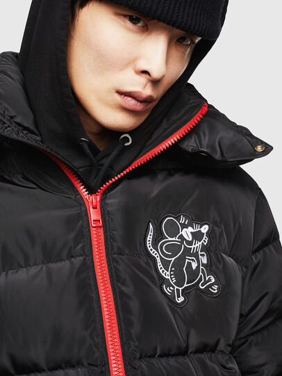 Diesel - CL-W-SMITH-LITM, Black - Winter Jackets - Image 3