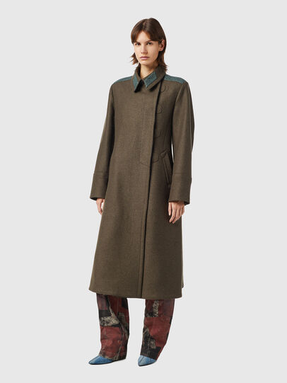 Diesel - W-AGATHE, Olive Green - Winter Jackets - Image 4