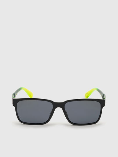 Diesel - DL0327, Black/Yellow - Sunglasses - Image 1