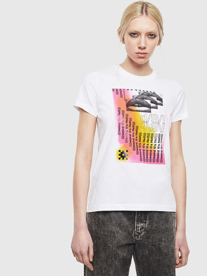 Diesel - T-SILY-S5, White - T-Shirts - Image 1