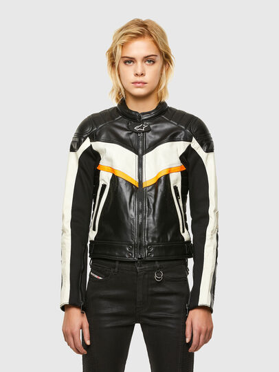 Diesel - ASTARS-LQUATTRO-B, Black - Leather jackets - Image 1