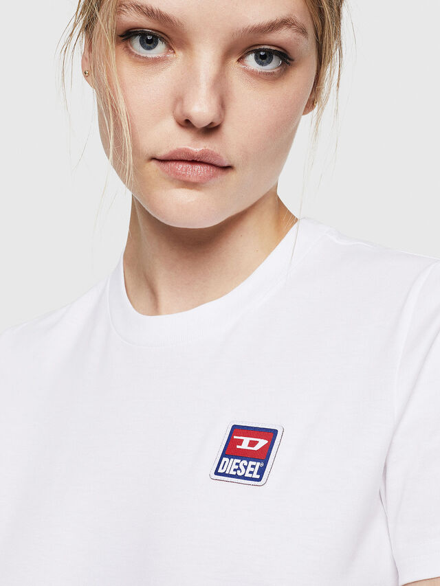 Diesel - T-SILY-ZE, White - T-Shirts - Image 3