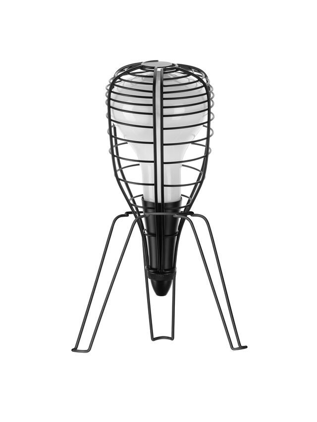 Diesel - CAGE ROCKET NERO, Black - Table Lighting - Image 1