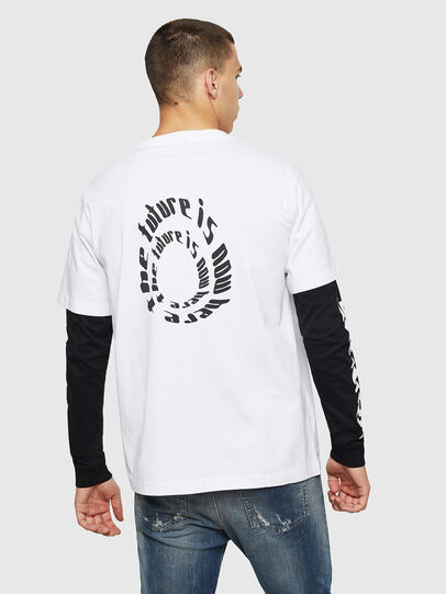 Diesel - T-SHOOT-B2, White/Black - T-Shirts - Image 2
