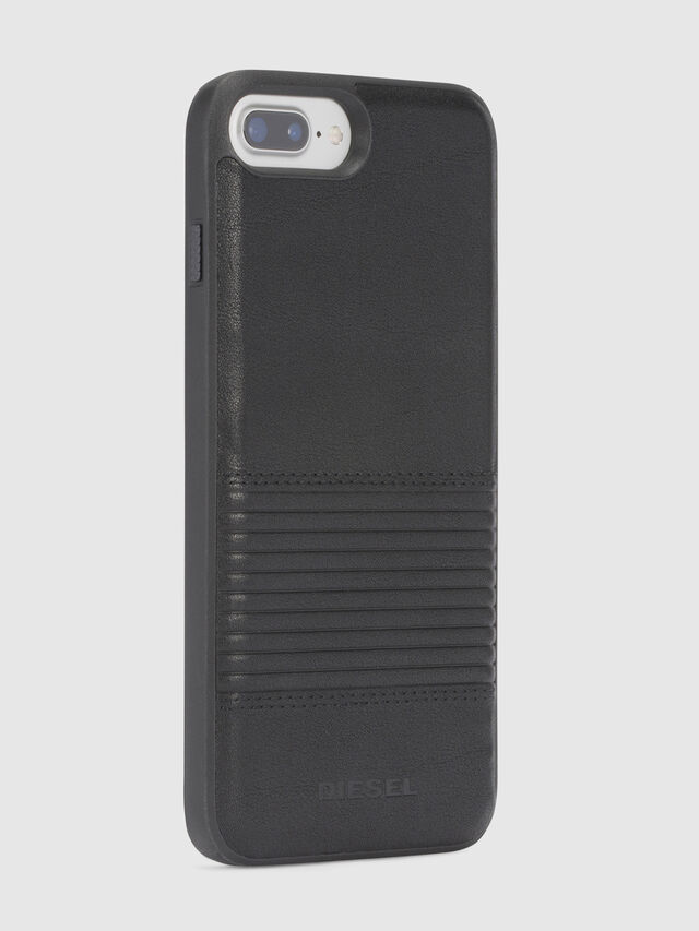 Diesel - BLACK LINED LEATHER IPHONE 8/7/6s/6 CASE, Black - Cases - Image 5
