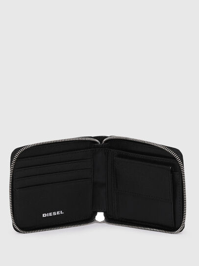 Diesel - HIRESH XS ZIPPI, Black - Zip-Round Wallets - Image 3