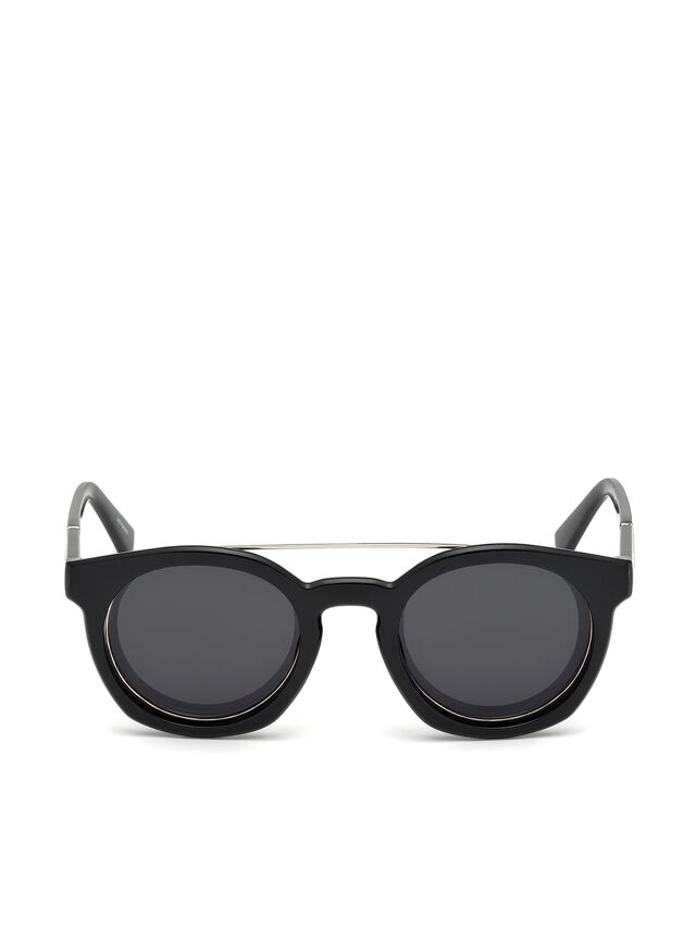 Diesel - DL0251, Bright Black - Sunglasses - Image 1