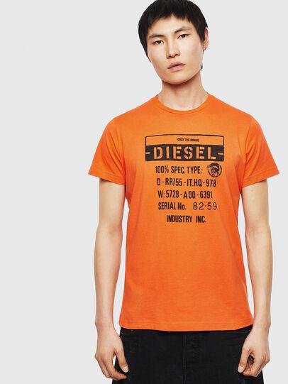 Diesel - T-DIEGO-S1, Orange - T-Shirts - Image 1