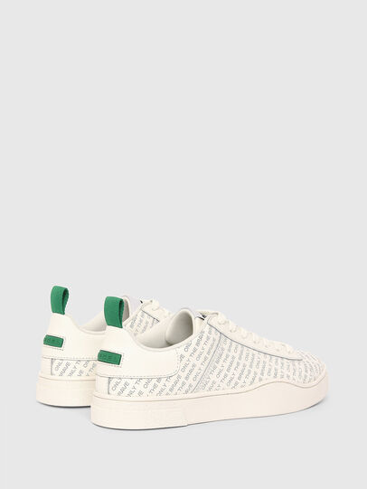 Diesel - S-CLEVER LOW LACE, White/Green - Sneakers - Image 3