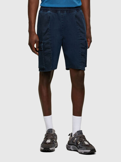 Diesel - D-PRONE-SP JOGGJEANS, Dark Blue - Shorts - Image 1