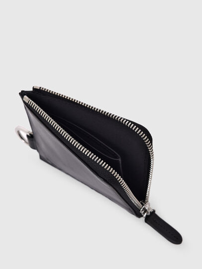 Diesel - L-ZIP CHAIN, Black - Zip-Round Wallets - Image 5