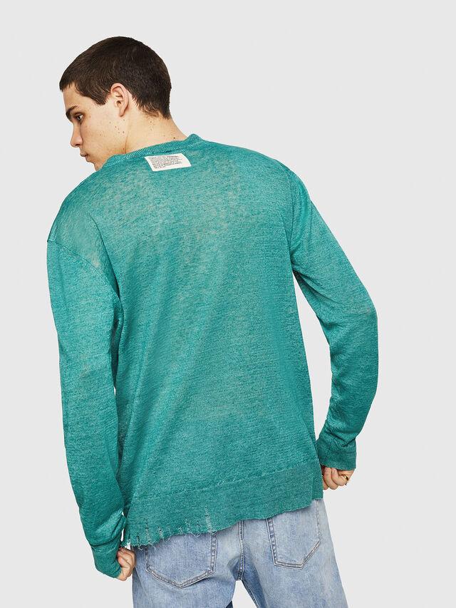Diesel - K-SDRU, Green - Knitwear - Image 2
