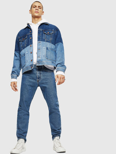 Diesel - D-PUF, Medium blue - Denim Jackets - Image 6