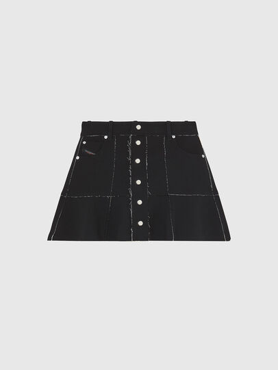 Diesel - O-BETH-B, Black - Skirts - Image 1