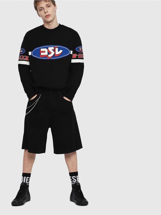 Diesel - S-BAY-YF, Multicolor/Black - Sweaters - Image 4