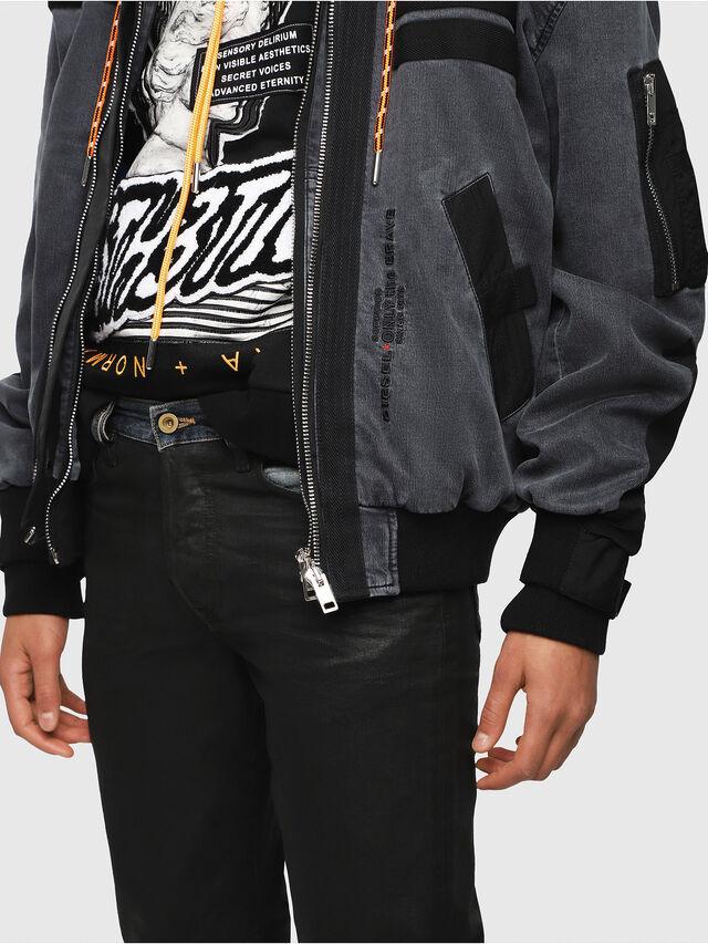 Diesel - D-EEJACK JOGGJEANS, Black/Dark grey - Denim Jackets - Image 5