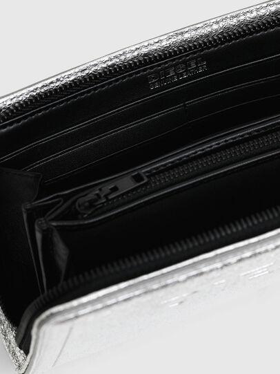 Diesel - GRANATO LCLS, Silver - Zip-Round Wallets - Image 4