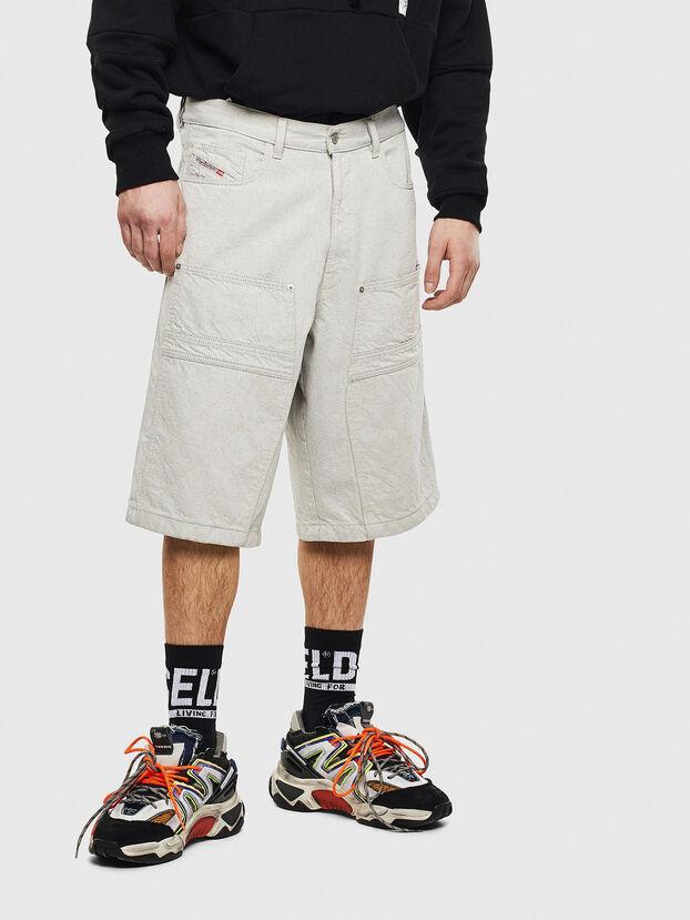 D-RON, White - Shorts