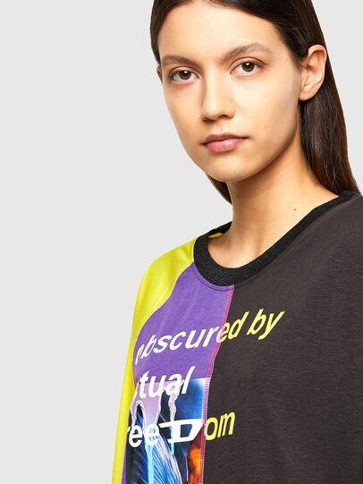 Diesel - T-KIM, Violet/Black - T-Shirts - Image 4
