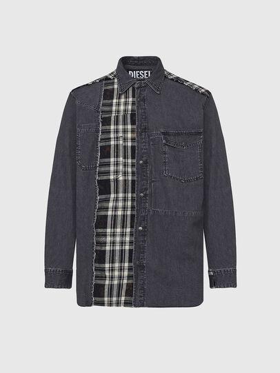 Diesel - D-FINLY, Dark grey - Denim Shirts - Image 1