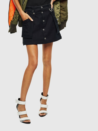 Diesel - O-LADEL, Black - Skirts - Image 1