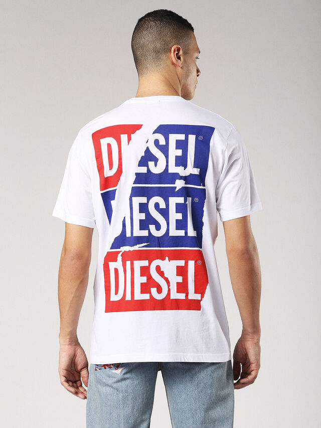Diesel - T-JUST-ZC, White - T-Shirts - Image 3