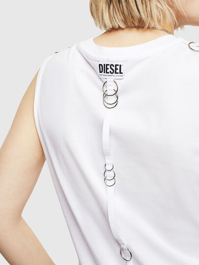Diesel - T-LESLEE-A, White - T-Shirts - Image 3