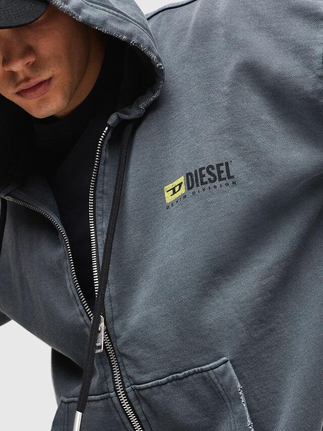 Diesel - DXF-S-ALBY, Black/Grey - Sweaters - Image 3