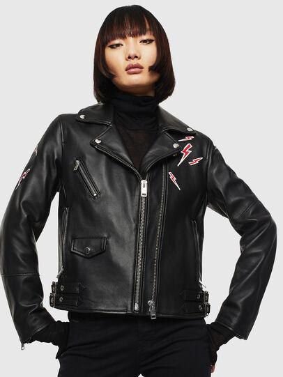 Diesel - CL-L-LYFA-BIGM, Black - Leather jackets - Image 1