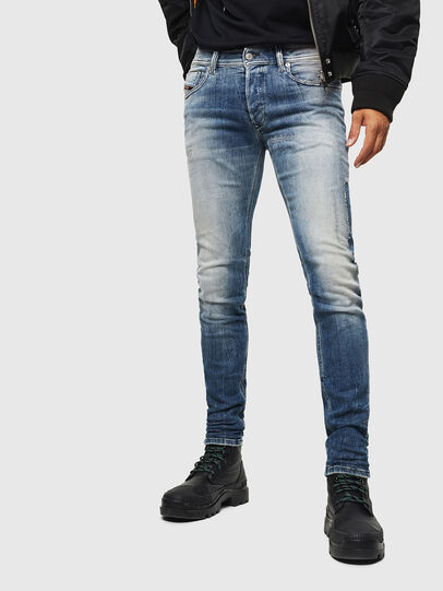 Diesel - Sleenker 0098D, Light Blue - Jeans - Image 1