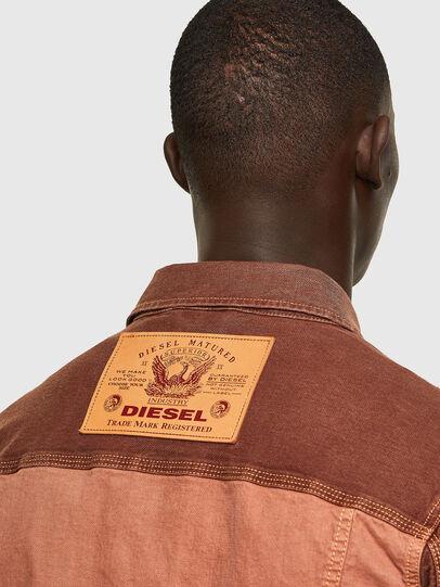 Diesel - D-YOGI-SP1 JOGGJEANS, Brown - Denim Jackets - Image 4