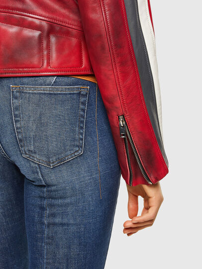 Diesel - L-POLLY, Red - Leather jackets - Image 5