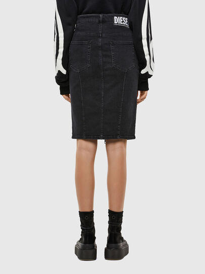 Diesel - DE-PENCIL-ZIP, Black - Skirts - Image 2