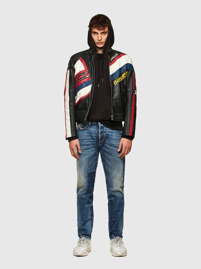 Diesel - L-POWER, Black/White - Leather jackets - Image 5