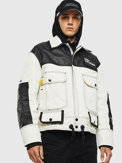 Diesel - J-KENDY, White/Black - Jackets - Image 1
