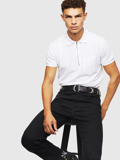 Diesel - T-POLZIP-POCKETS-J1, White - Polos - Image 4