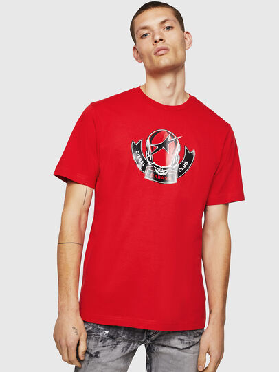 Diesel - T-JUST-B1, Fire Red - T-Shirts - Image 1