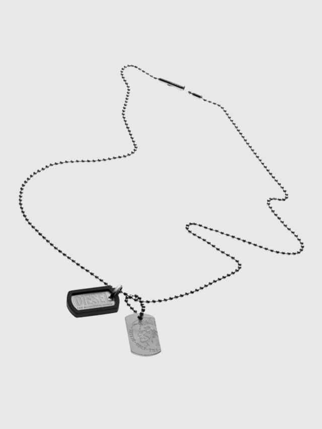Diesel A TOG TOG ONE WITH, Silver - Necklaces - Image 1