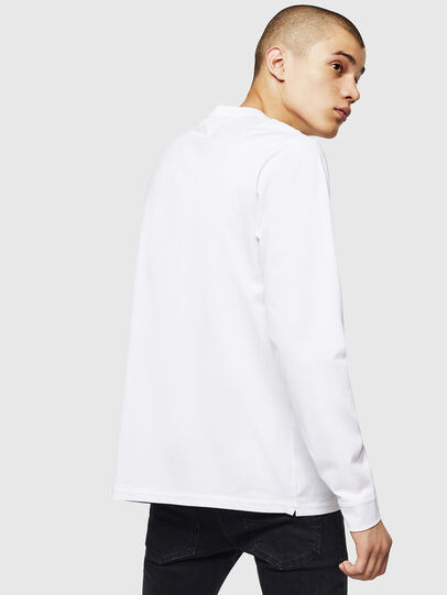 Diesel - T-JUSTY-LS, White - T-Shirts - Image 2