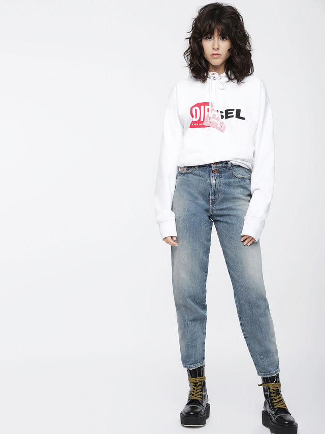 Diesel F-ALBY-FL-A, White - Sweaters - Image 4