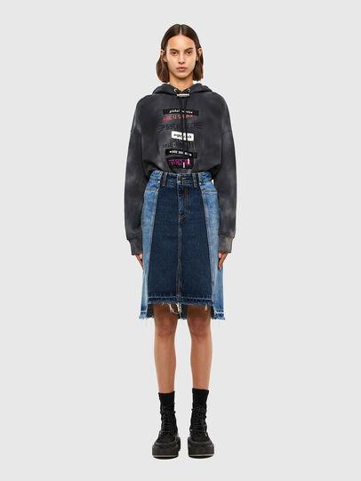 Diesel - DE-PAU-SP, Medium blue - Skirts - Image 6