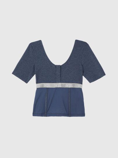 Diesel - UFTEE-TOPCUT-DN, Blue - T-Shirts - Image 1