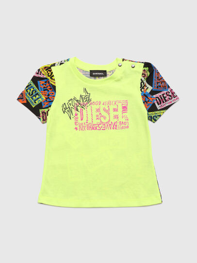 Diesel - TAIRB, Green Fluo - T-shirts and Tops - Image 1