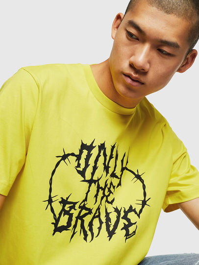 Diesel - T-JUST-B23, Yellow - T-Shirts - Image 3