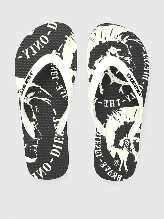Diesel - FF 22 FLIPPER YO, White/Black - Footwear - Image 2