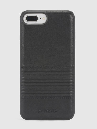 Diesel - BLACK LINED LEATHER IPHONE 8 PLUS/7 PLUS/6s PLUS/6 PLUS CASE,  - Cases - Image 2