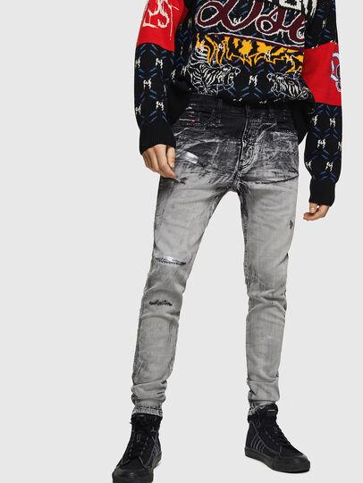 Diesel - D-Reeft JoggJeans 084AH, Black/Dark grey - Jeans - Image 1